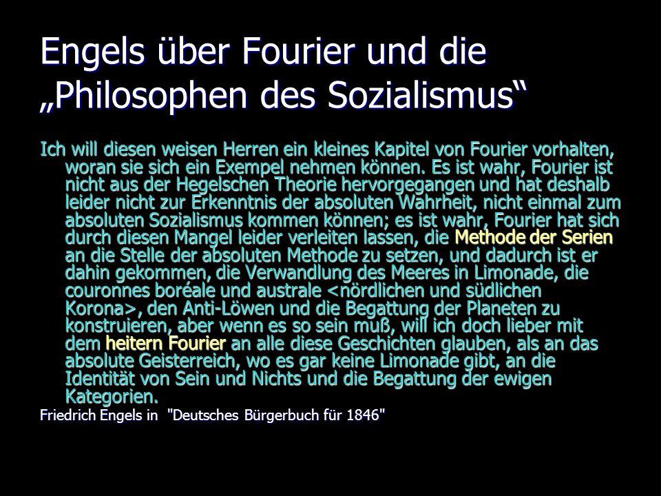 """Engels über Fourier und die """"Philosophen des Sozialismus"""