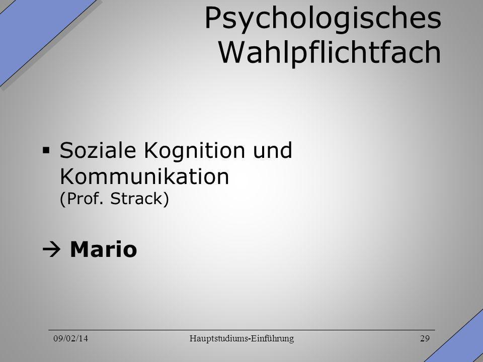 Psychologisches Wahlpflichtfach