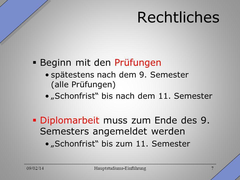 Hauptstudiums-Einführung