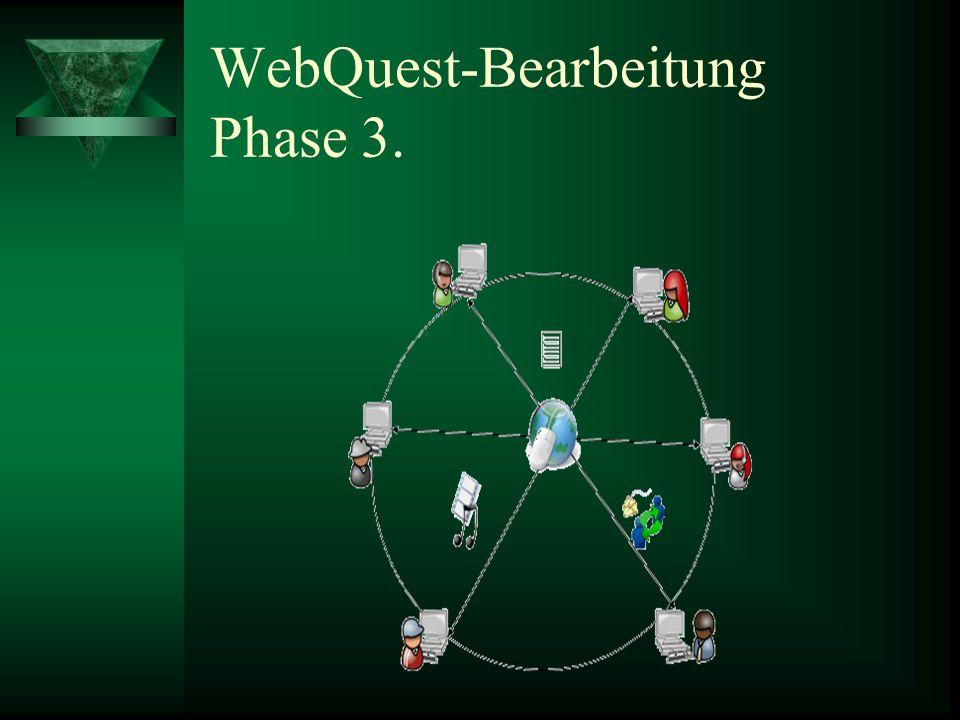 WebQuest-Bearbeitung Phase 3.