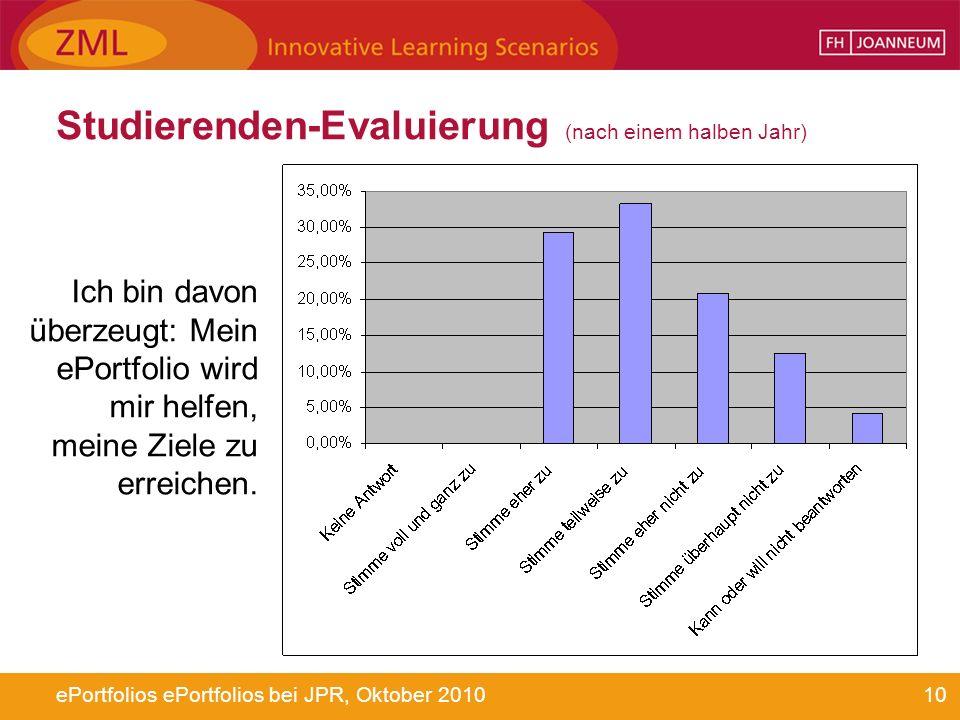 Studierenden-Evaluierung (nach einem halben Jahr)