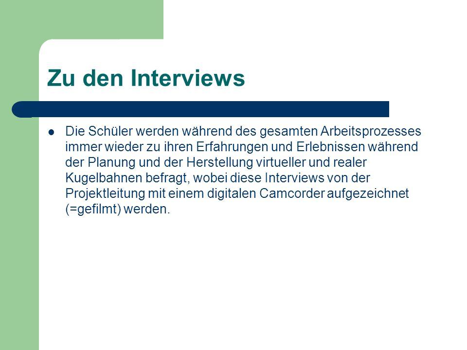 Zu den Interviews