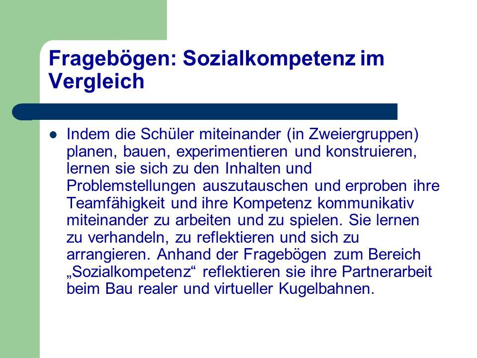 Fragebögen: Sozialkompetenz im Vergleich