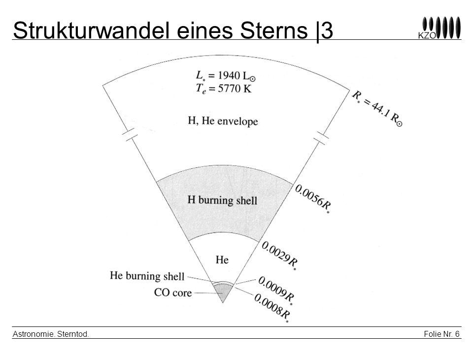 Strukturwandel eines Sterns |3