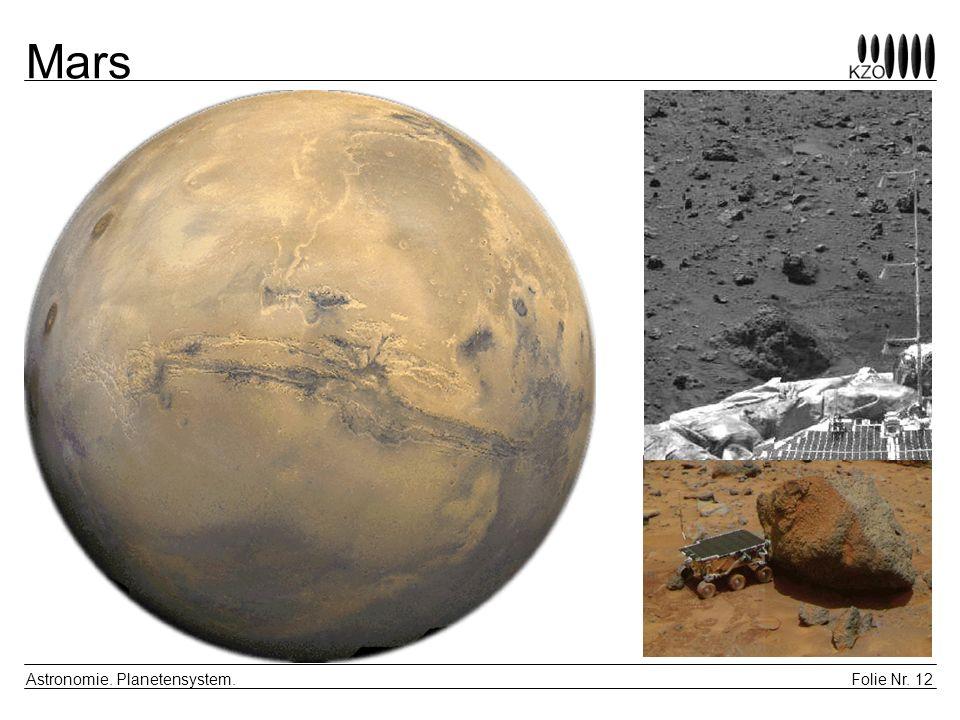 Mars Astronomie. Planetensystem.