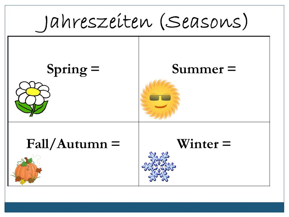 Jahreszeiten (Seasons)