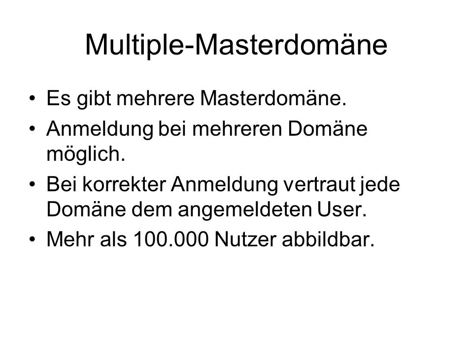 Multiple-Masterdomäne