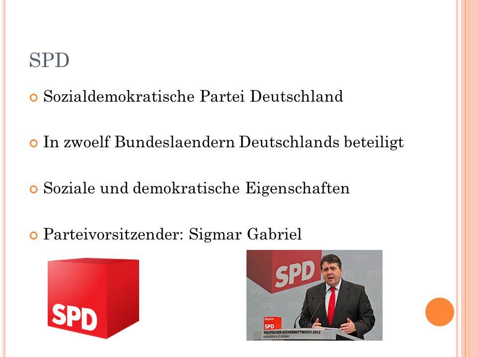 SPD Sozialdemokratische Partei Deutschland