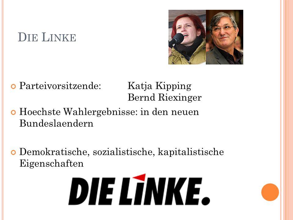 Die Linke Parteivorsitzende: Katja Kipping Bernd Riexinger