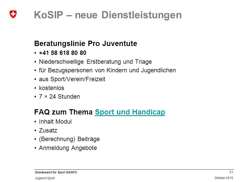 KoSIP – neue Dienstleistungen