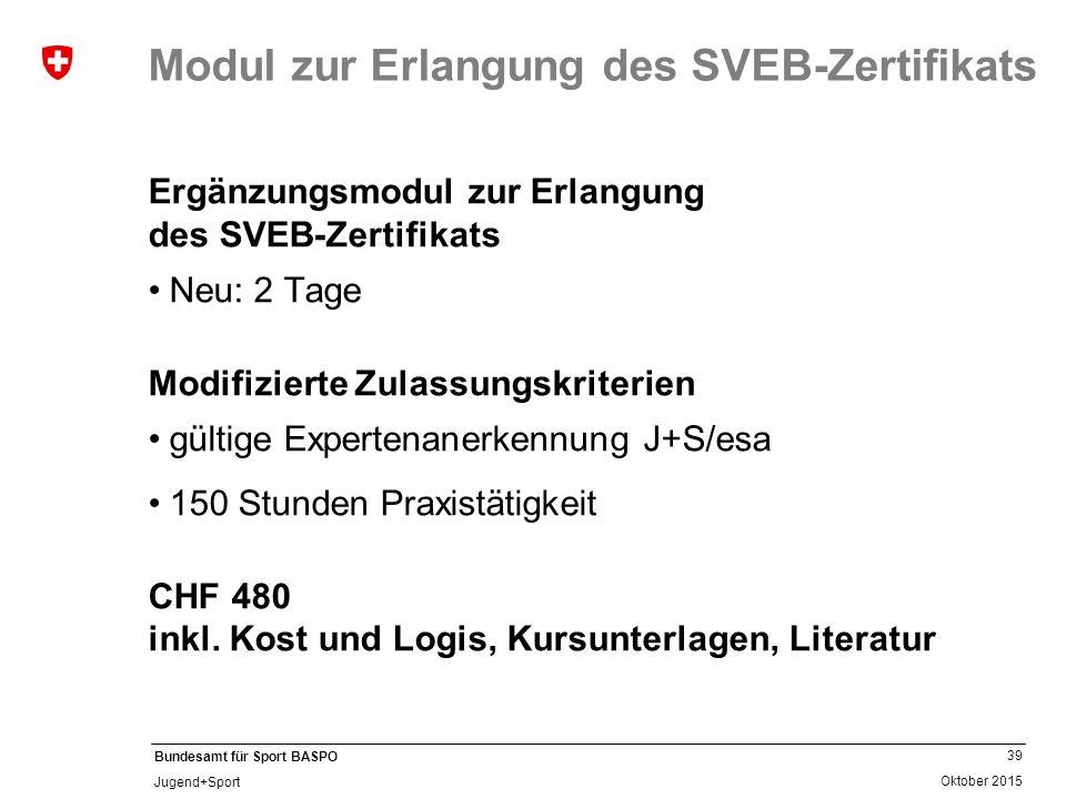 Modul zur Erlangung des SVEB-Zertifikats