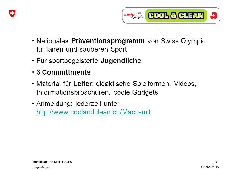Für sportbegeisterte Jugendliche 6 Committments