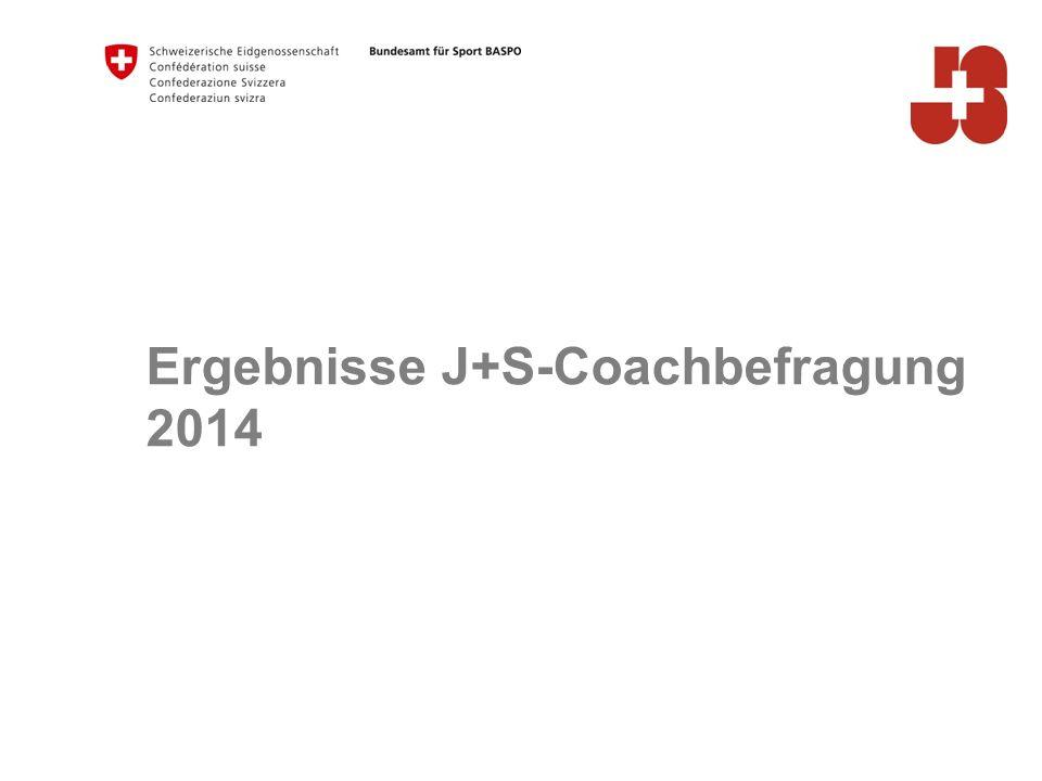 Ergebnisse J+S-Coachbefragung 2014