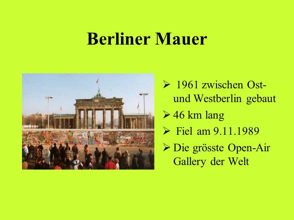 Berliner Mauer 1961 zwischen Ost- und Westberlin gebaut 46 km lang