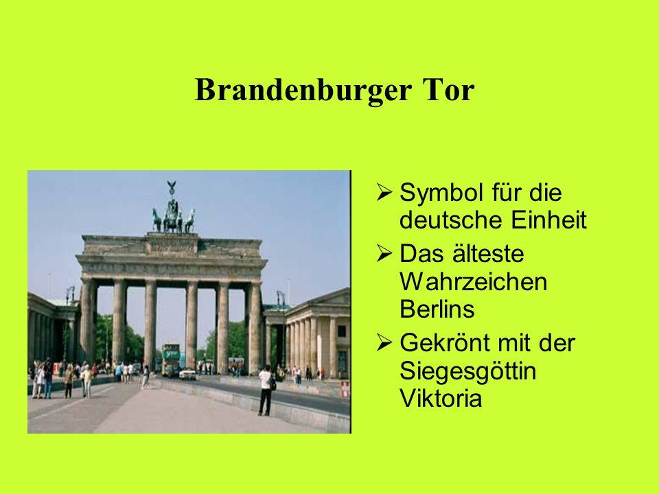 Brandenburger Tor Symbol für die deutsche Einheit