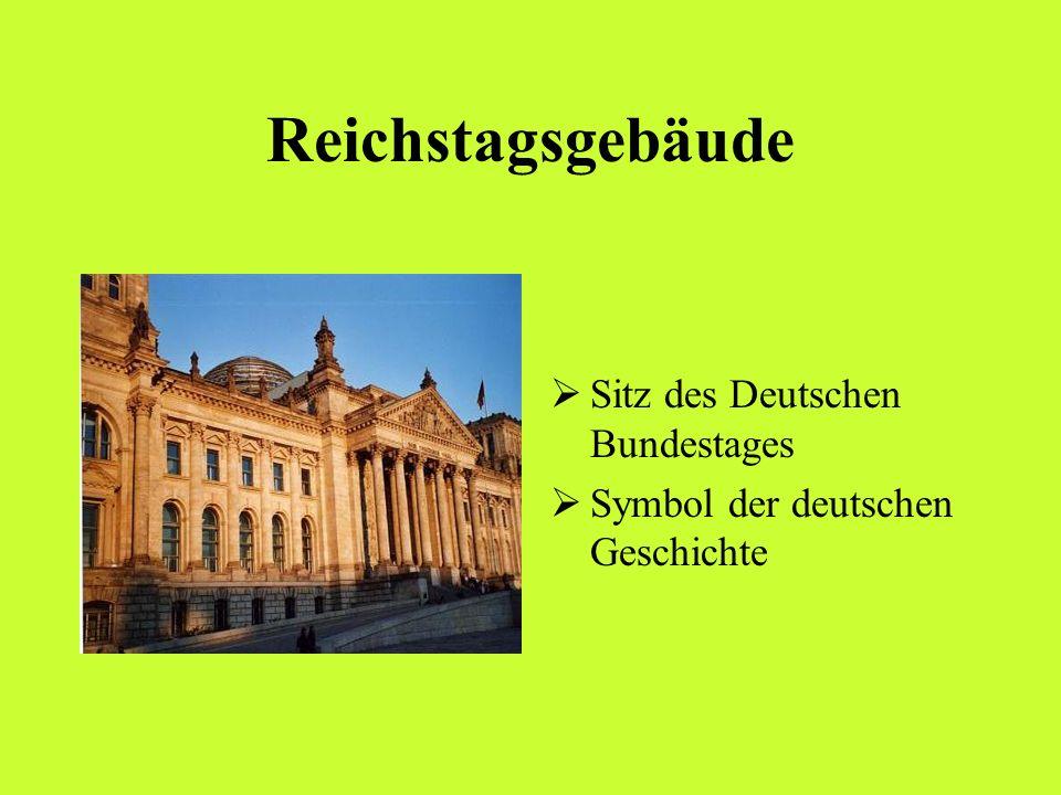 Reichstagsgebäude Sitz des Deutschen Bundestages