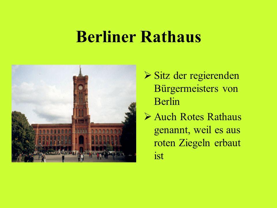 Berliner Rathaus Sitz der regierenden Bürgermeisters von Berlin