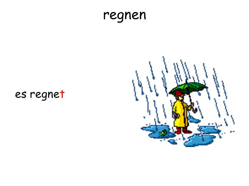regnen es regnet
