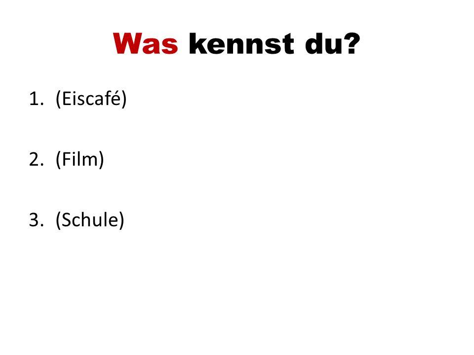 Was kennst du (Eiscafé) (Film) (Schule)