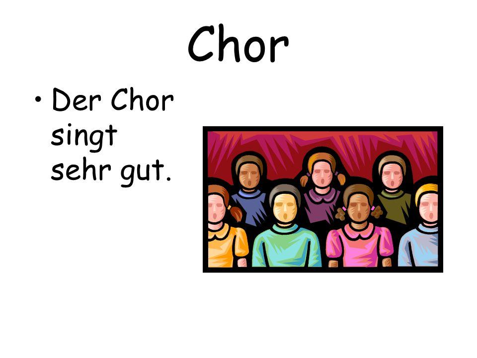 Chor Der Chor singt sehr gut.