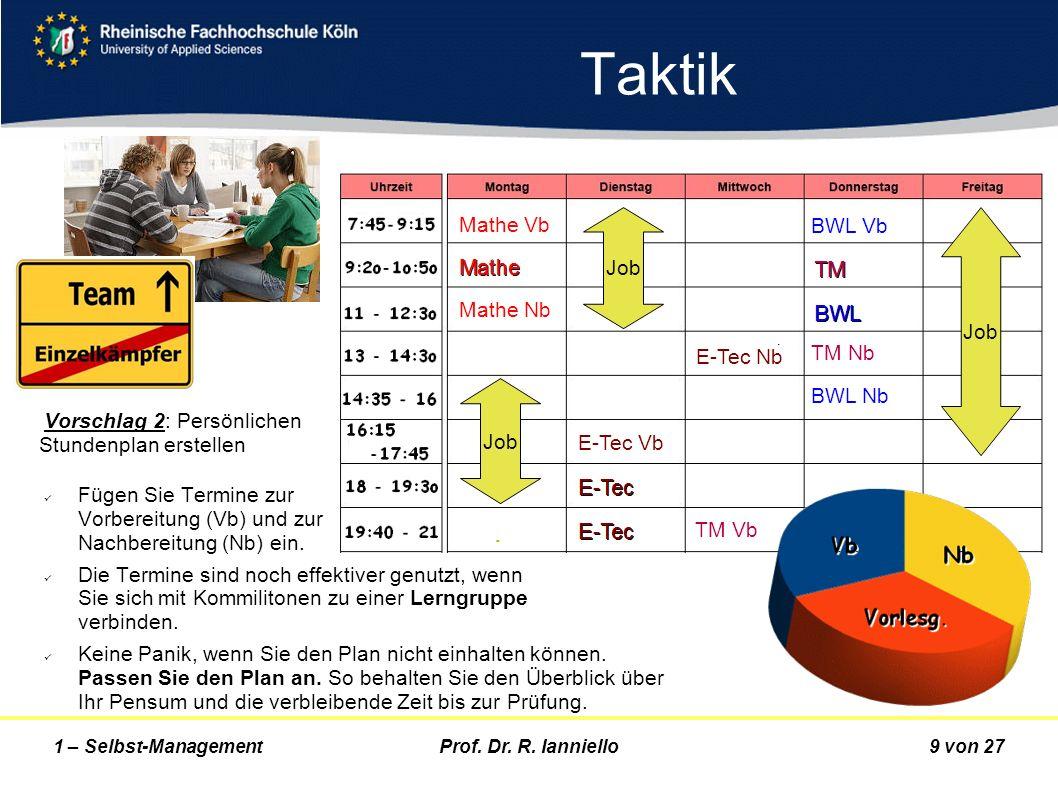 Taktik Mathe Vb BWL Vb Mathe Nb TM Nb Job BWL Nb E-Tec Nb