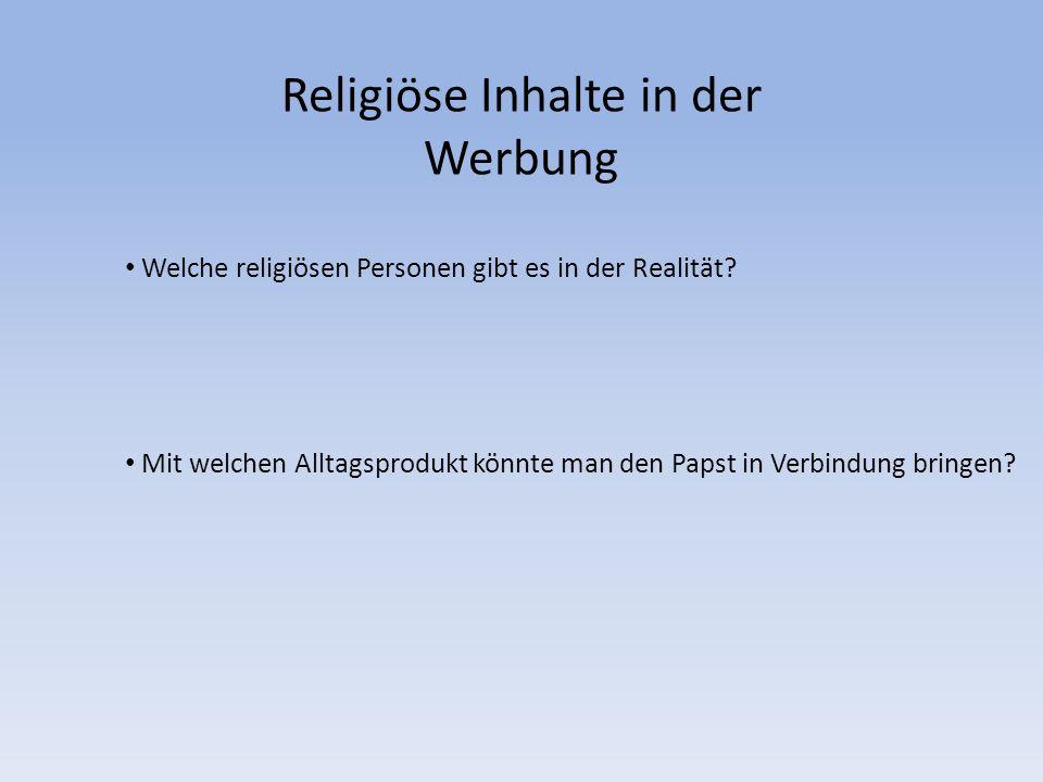 Religiöse Inhalte in der Werbung