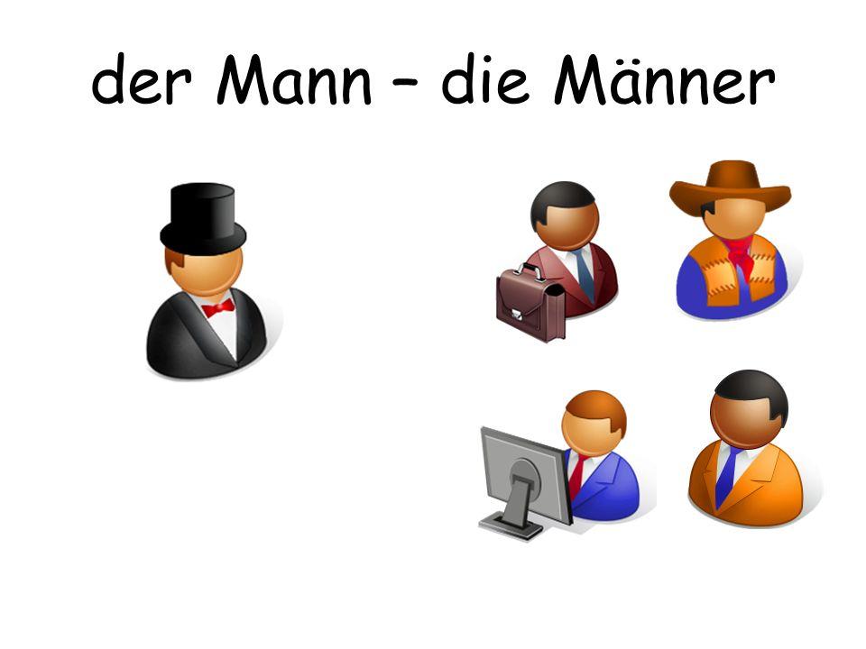 der Mann – die Männer