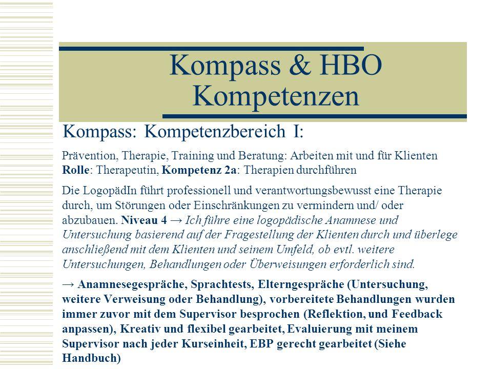 Kompass & HBO Kompetenzen
