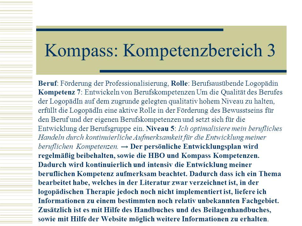 Kompass: Kompetenzbereich 3