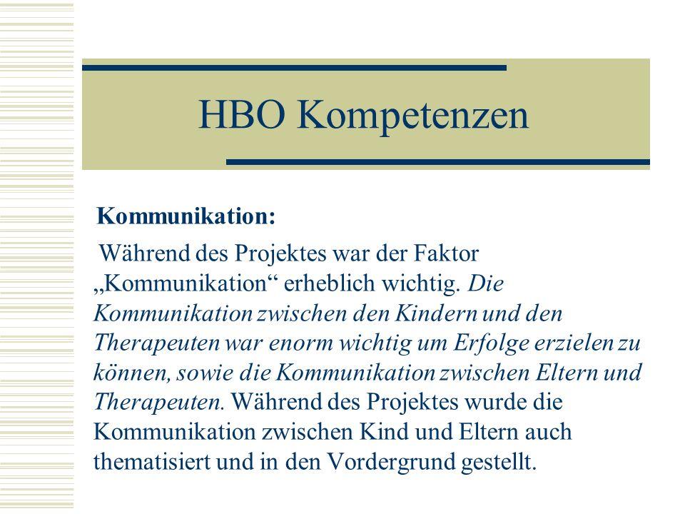 HBO Kompetenzen Kommunikation: