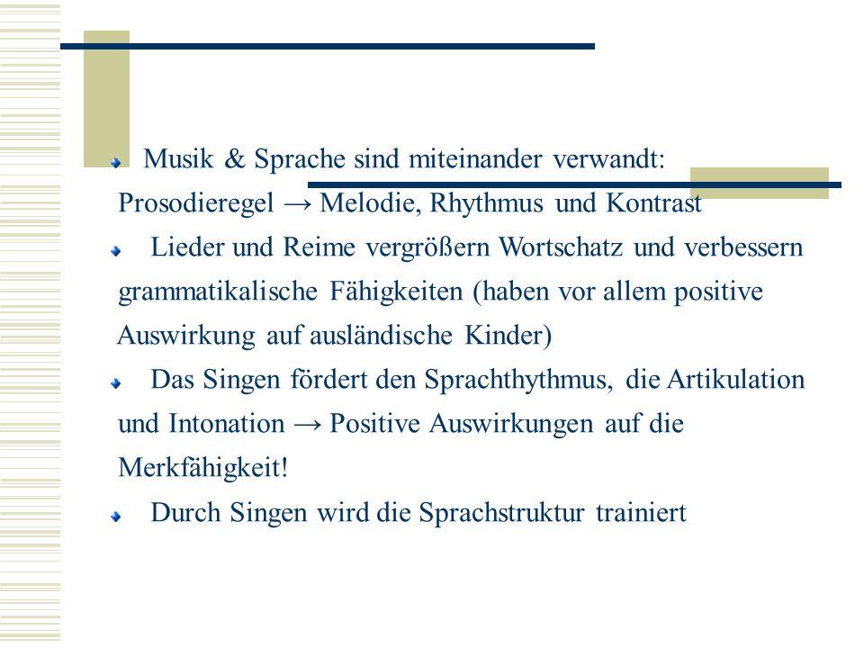 Musik & Sprache sind miteinander verwandt: