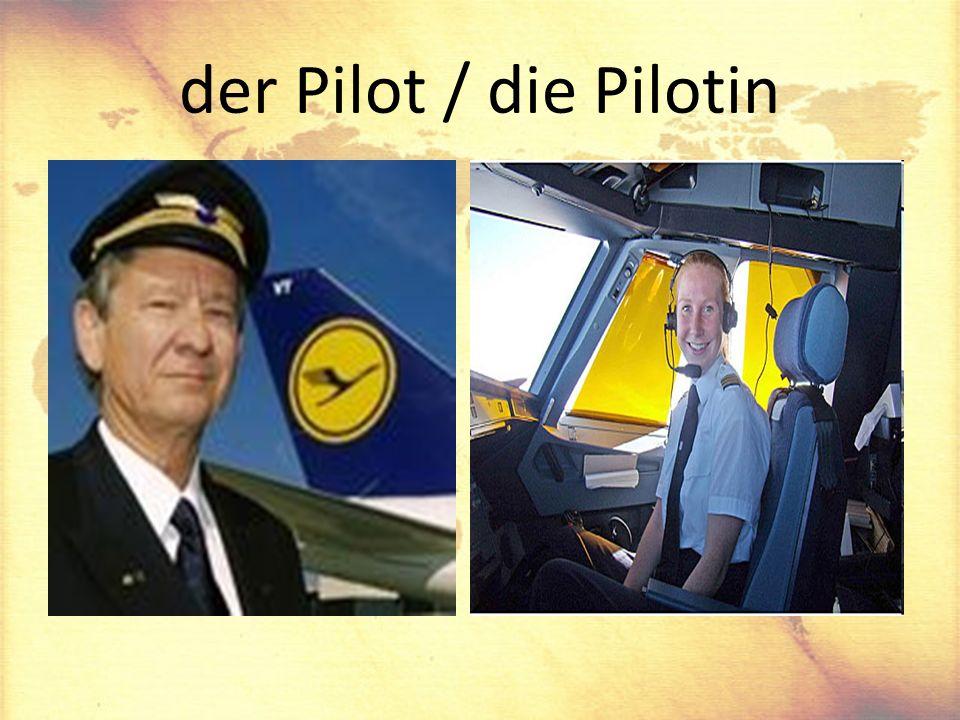 der Pilot / die Pilotin