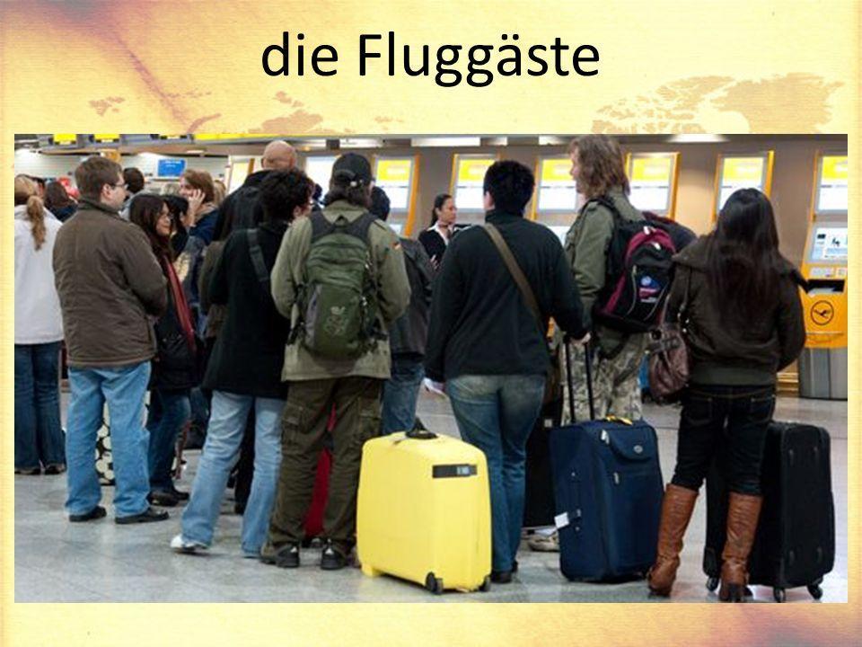 die Fluggäste