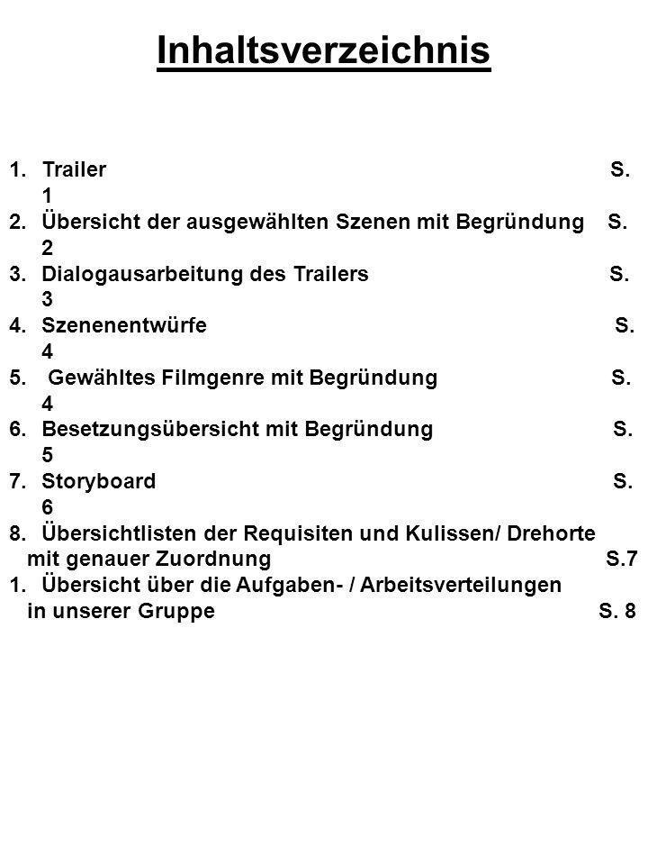 Inhaltsverzeichnis Trailer S. 1