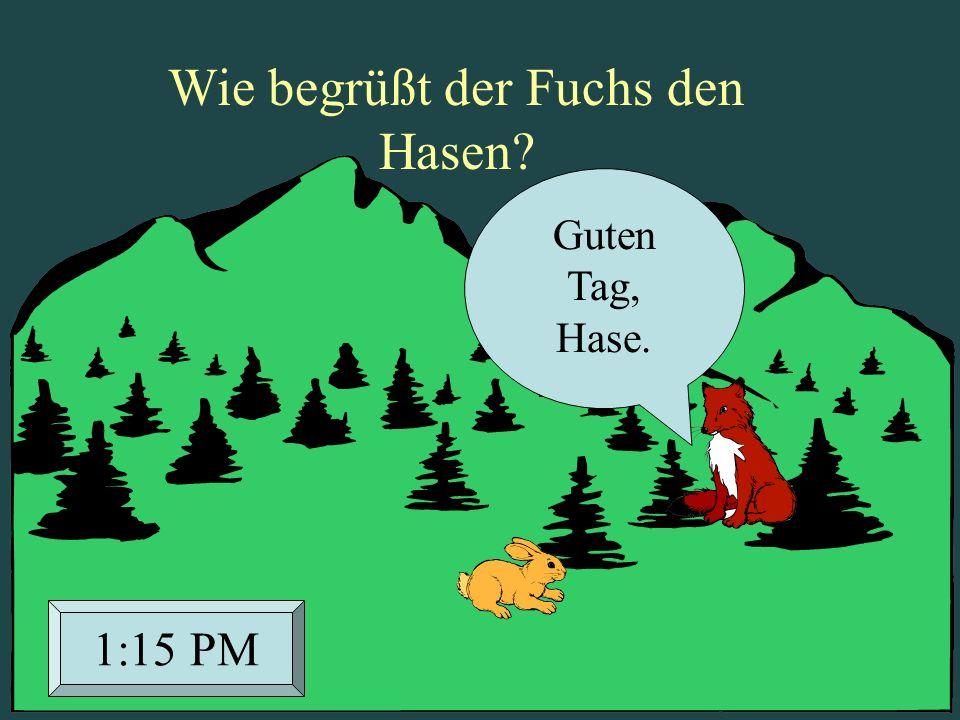 Wie begrüßt der Fuchs den Hasen