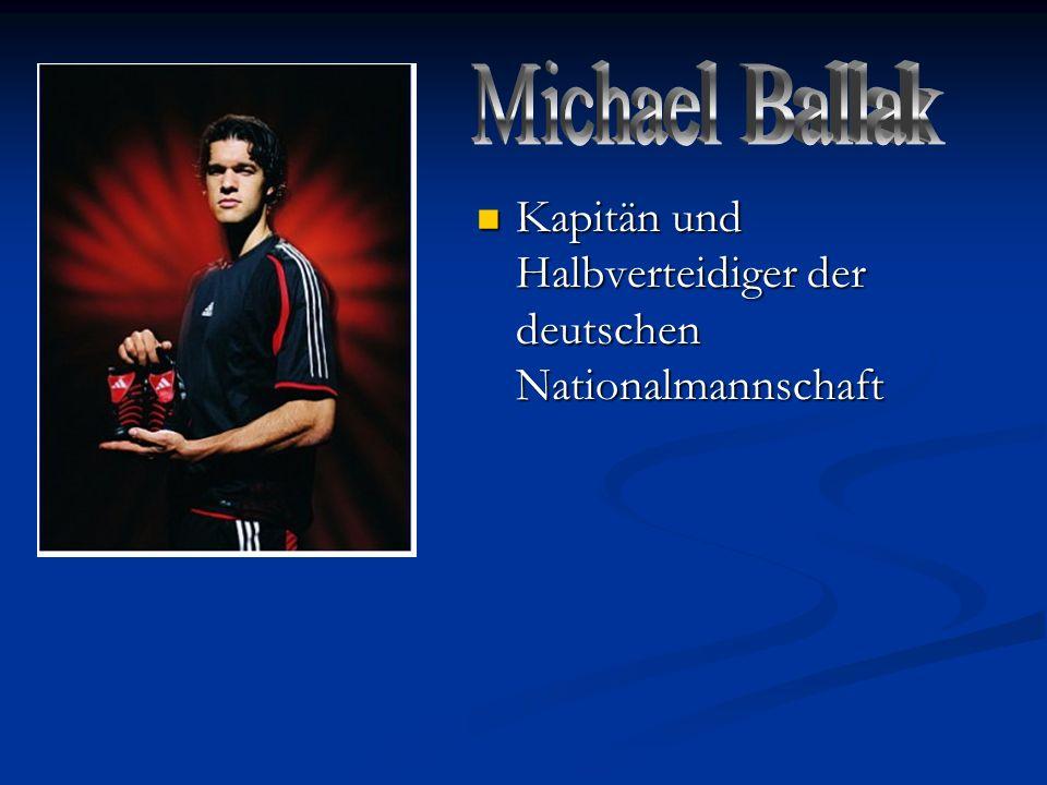 Michael Ballak Kapitän und Halbverteidiger der deutschen Nationalmannschaft