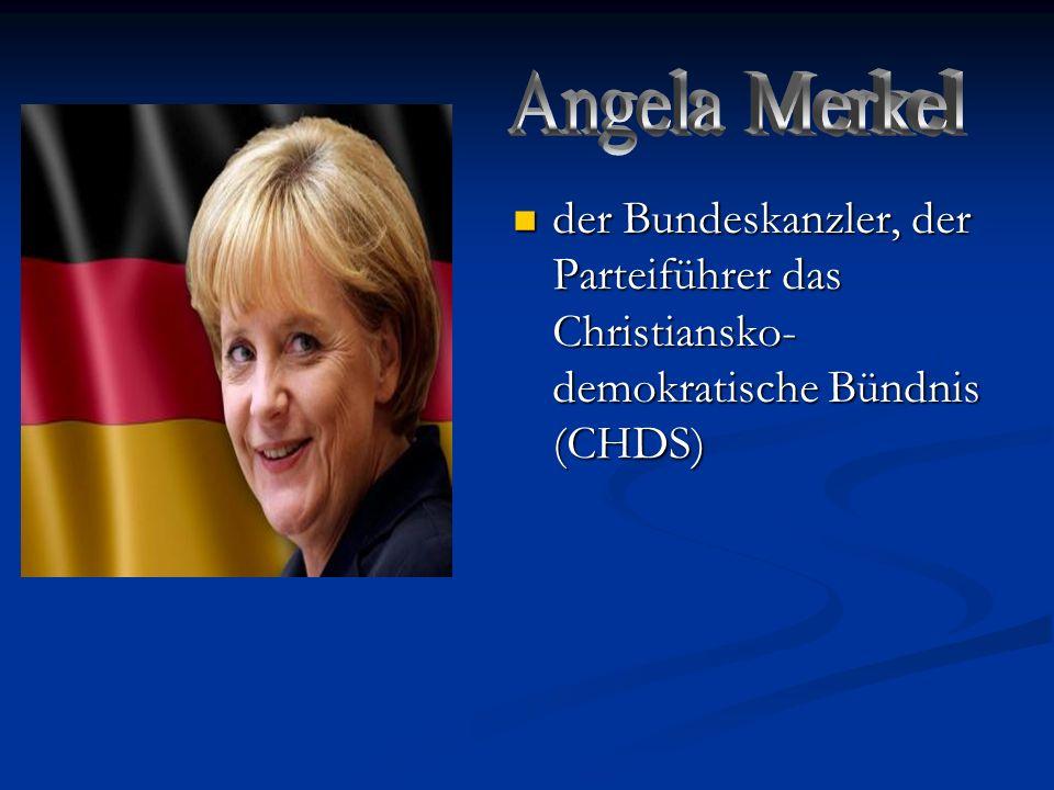 Angela Merkel der Bundeskanzler, der Parteiführer das Christiansko-demokratische Bündnis (CHDS)