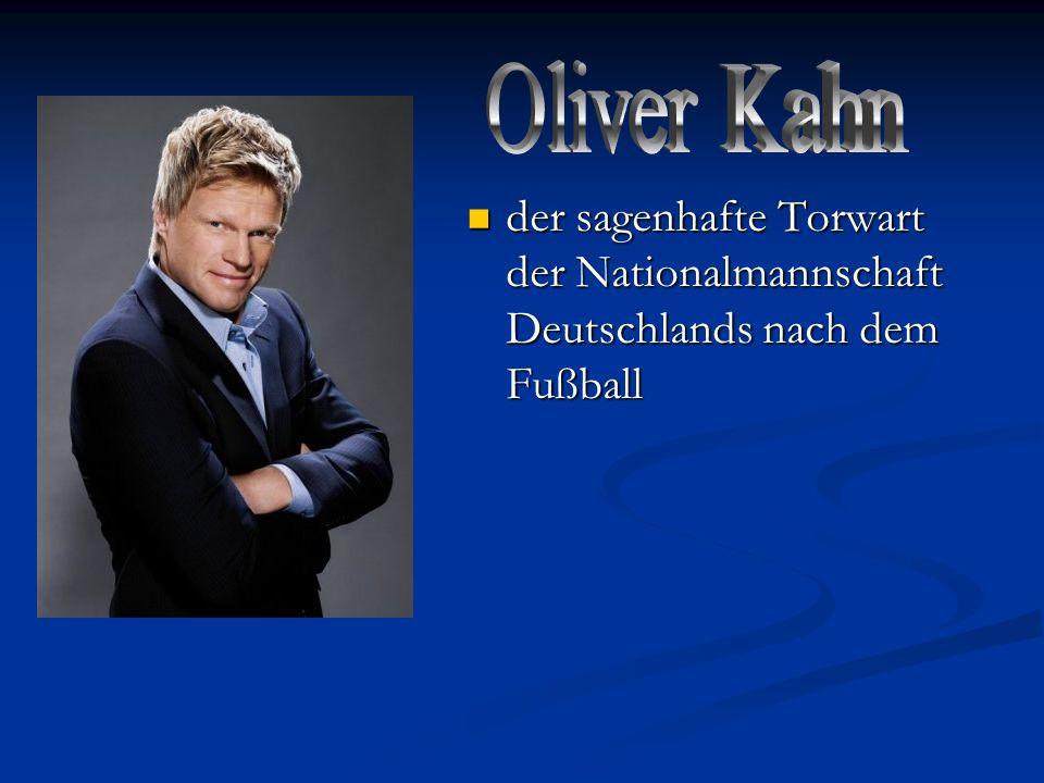 Oliver Kahn der sagenhafte Torwart der Nationalmannschaft Deutschlands nach dem Fußball