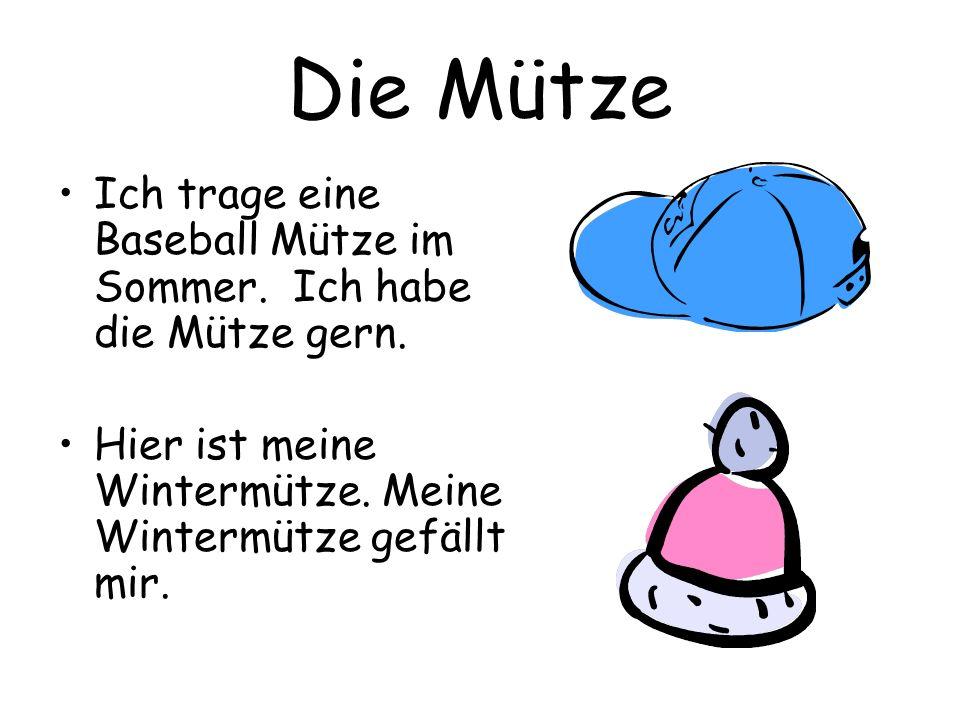 Die Mütze Ich trage eine Baseball Mütze im Sommer.