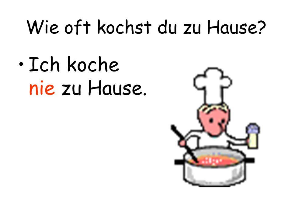 Wie oft kochst du zu Hause
