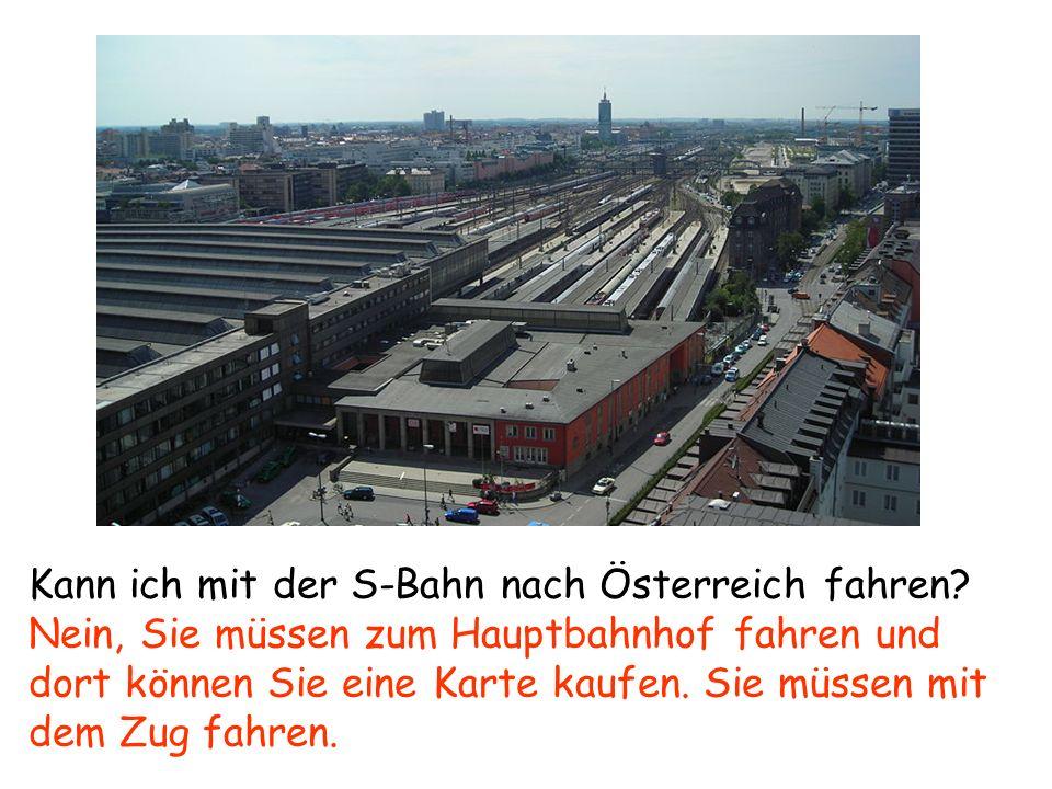 Kann ich mit der S-Bahn nach Österreich fahren