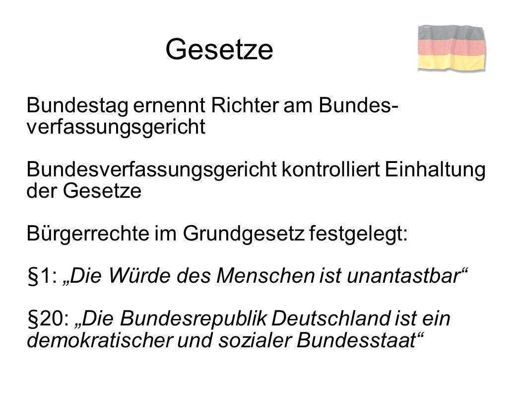 Gesetze Bundestag ernennt Richter am Bundes-verfassungsgericht