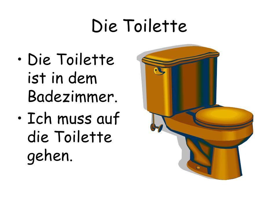 Die Toilette Die Toilette ist in dem Badezimmer.