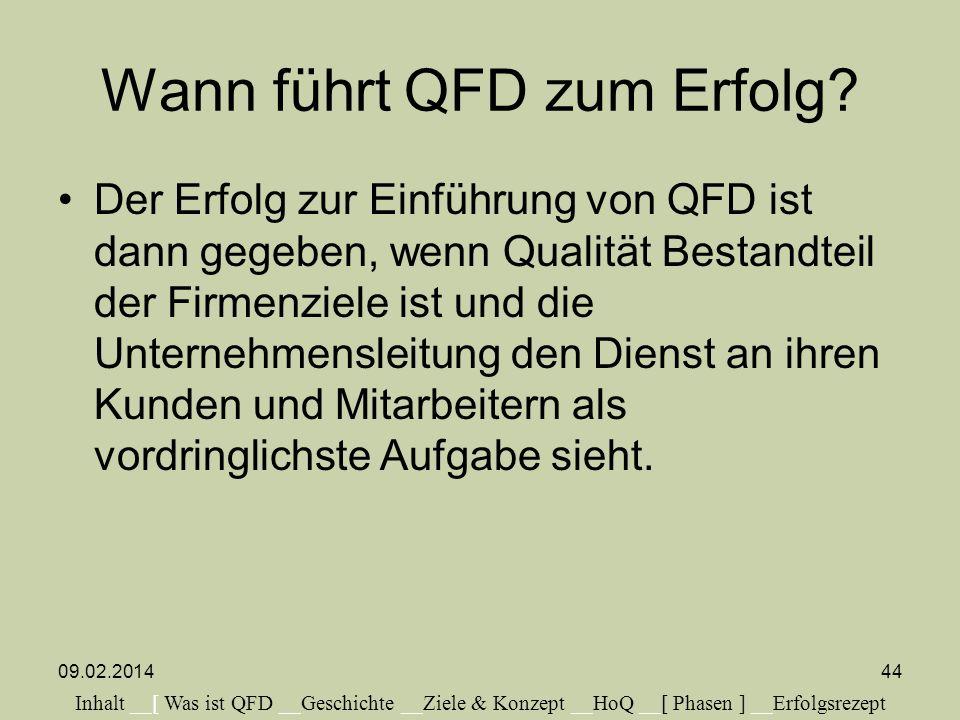 Wann führt QFD zum Erfolg