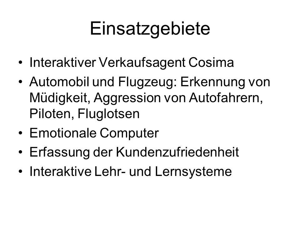 Einsatzgebiete Interaktiver Verkaufsagent Cosima