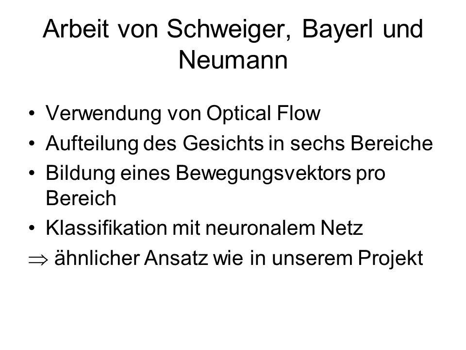 Arbeit von Schweiger, Bayerl und Neumann
