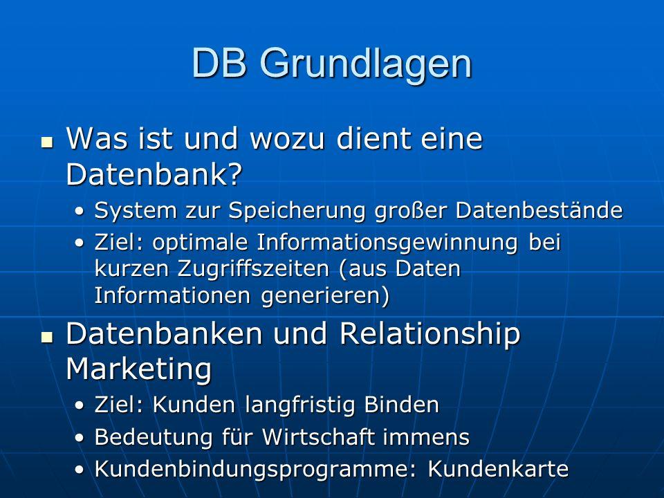 DB Grundlagen Was ist und wozu dient eine Datenbank