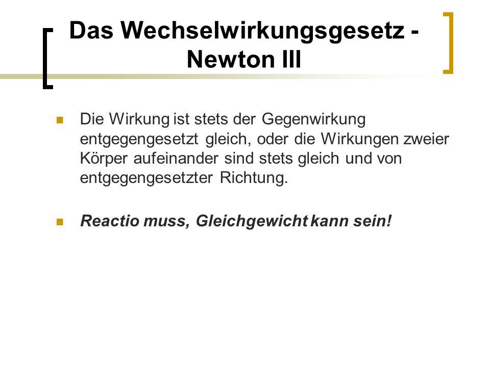 3.Gesetz von Newton: Das Wechselwirkungsgesetz