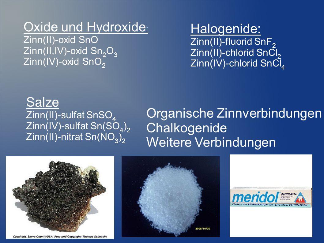 Organische Zinnverbindungen Chalkogenide Weitere Verbindungen