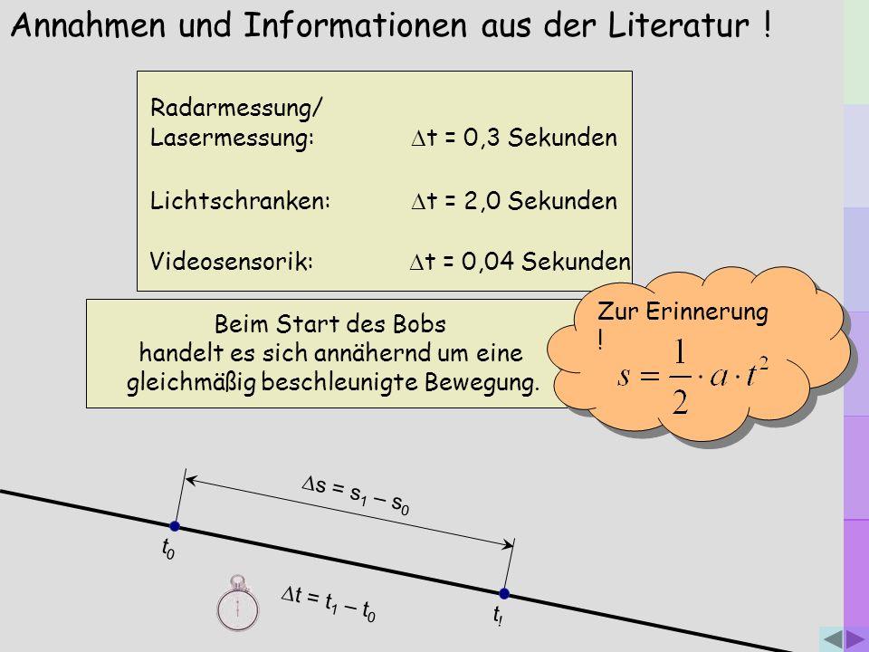 Annahmen und Informationen aus der Literatur !